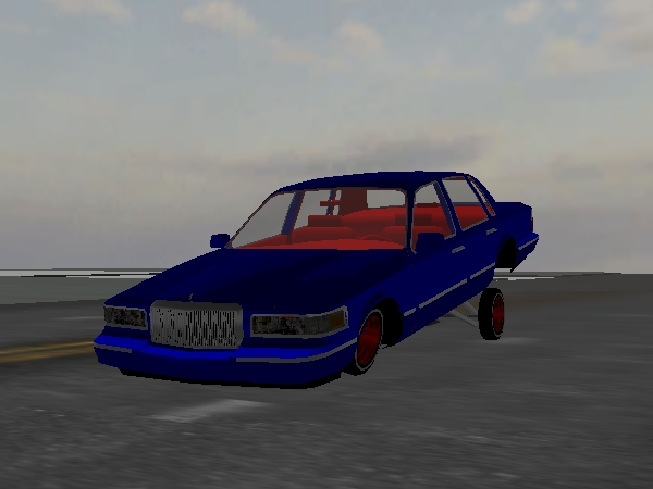 Patriotic Town Car screenshot 1