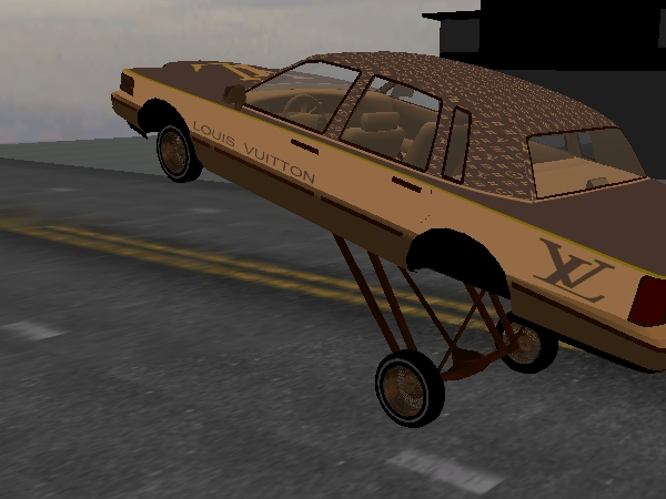 The Lowrider Game  MPH custom Louis Vuitton lowrider Town Car