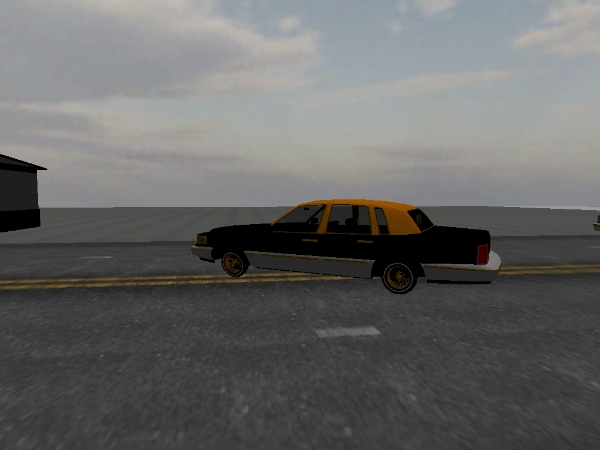 gold n black town car Town Car screenshot 1