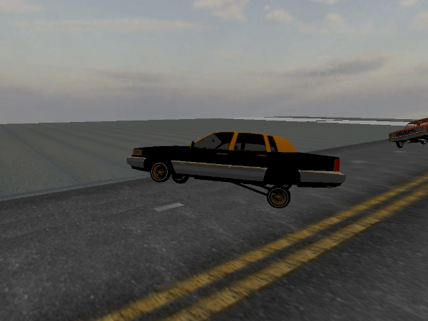 gold n black town car Town Car screenshot 2