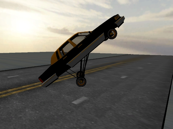 gold n black town car Town Car screenshot 3